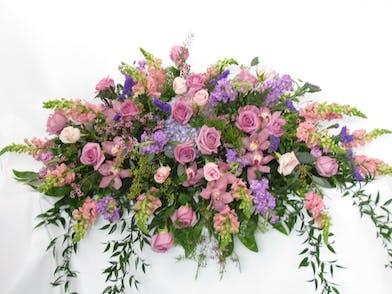 pastel flowers casket cover baton rouge la