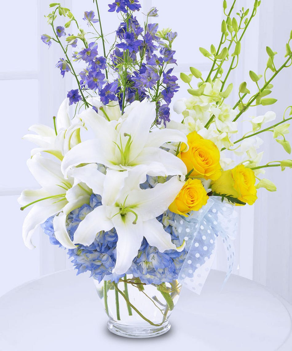 Welcome New Baby Boy Flowers delivered in Baton Rouge, LA - Billy ...