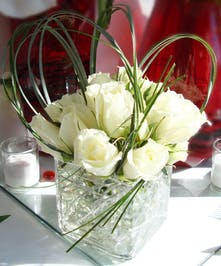 Wonderful winter white roses!