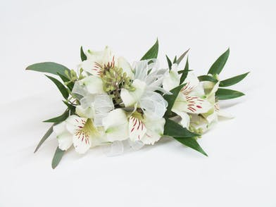 unique alstroemeria wristlet corsage for the dance in Baton Rouge LA