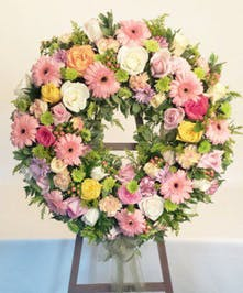 Sympathy Wreath Mixed Flowers Baton Rouge LA
