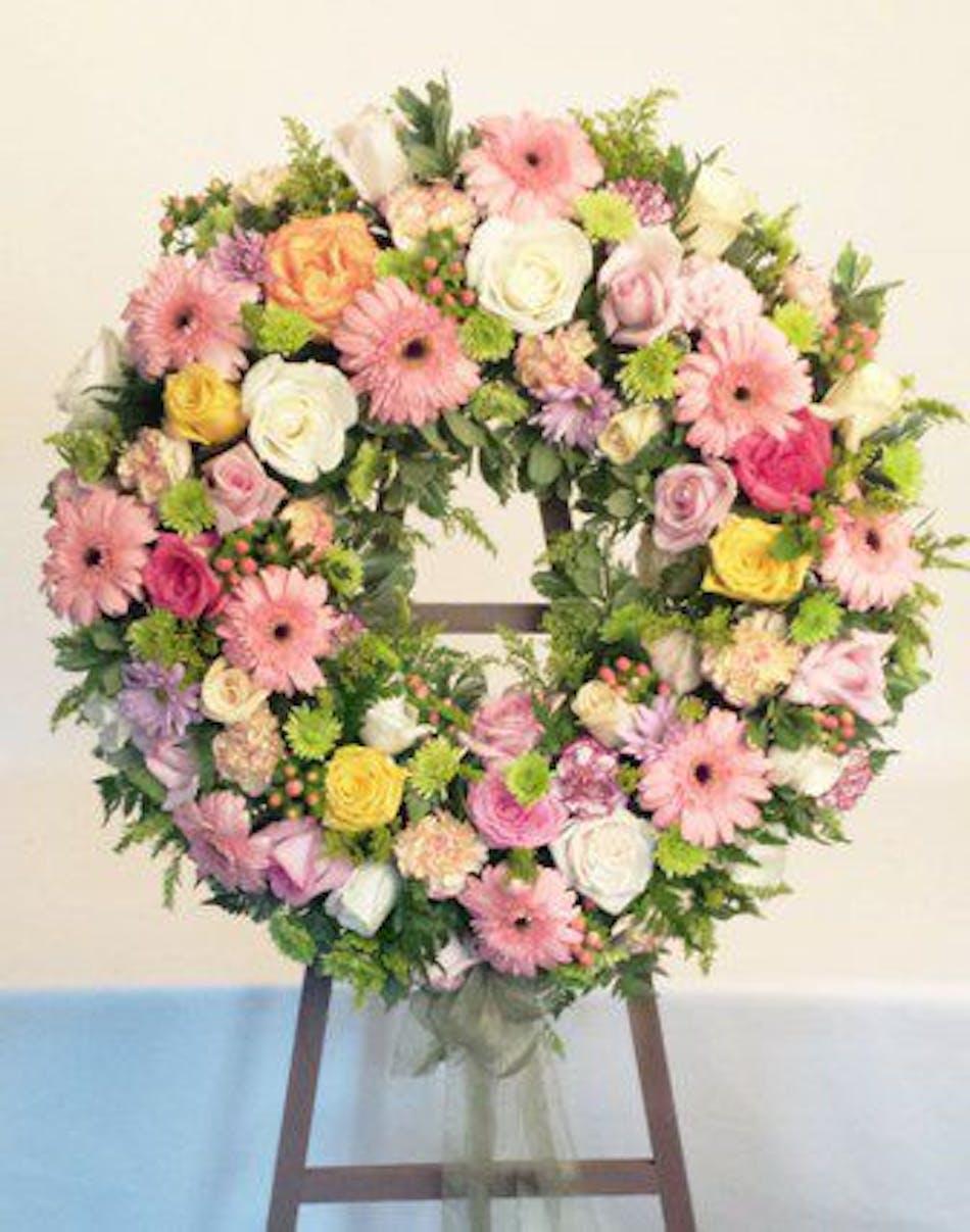 Sympathy Wreath Mixed Flowers Baton Rouge La