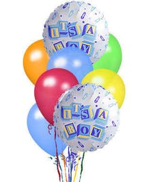 baby boy balloon bouquet delivered baton rouge LA