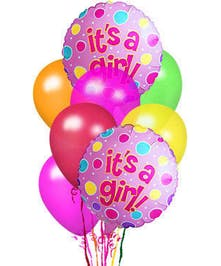 baby girl balloon bouquet delivered baton rouge LA