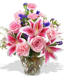 Assorted pink flowers delivered to Baton Rouge, LA, surrounding areas or nationwide