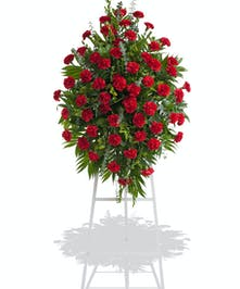 Classic Carnations stand arrangement delivered in Baton Rouge, LA.
