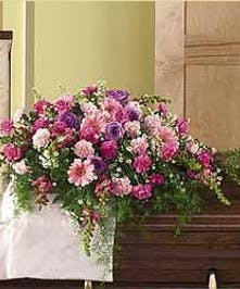 Shades of Pink Casket Cover Baton Rouge LA