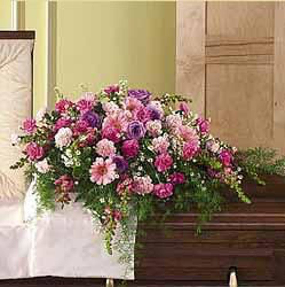 Shades Of Pink Casket Cover Delivered In Baton Rouge La Billy