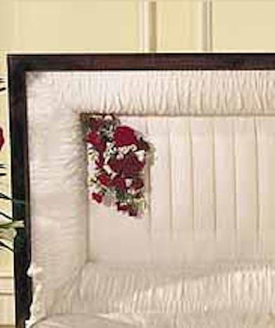 Roses and Spray Roses Casket Arrangement Baton Rouge LA
