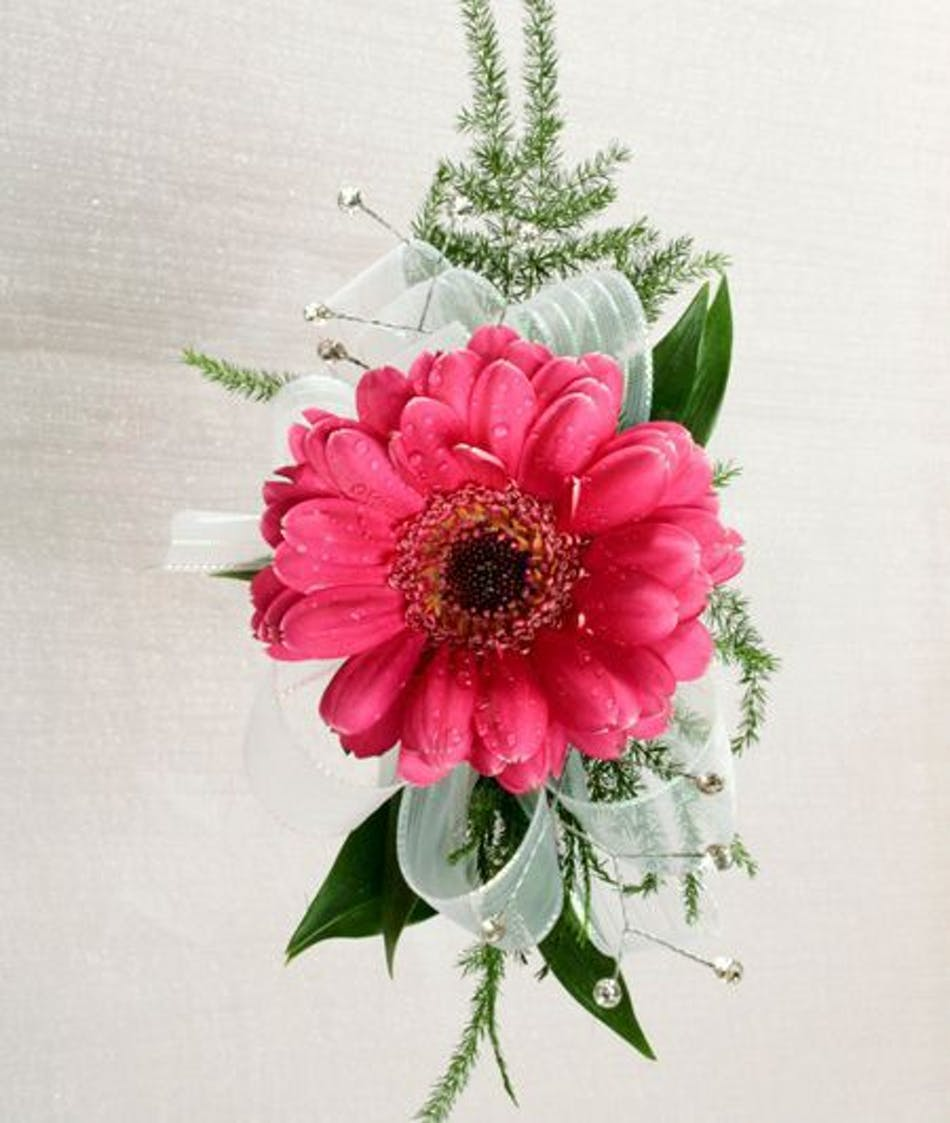 Gerbera daisy corsage for the dance in baton rouge la billy heromans gerbera daisy corsage for the dance in baton rouge la izmirmasajfo