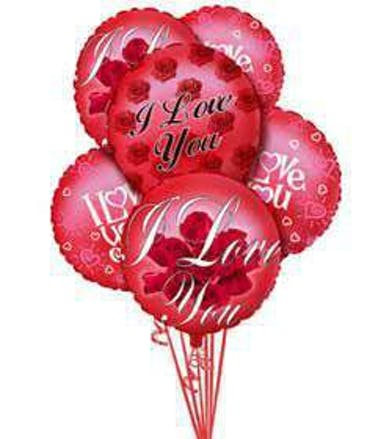 Valentine's Day Balloon Bouquet Gift delivered Baton Rouge LA