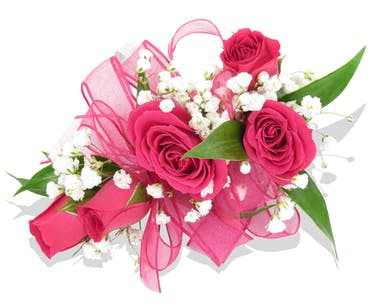 Any Color Sweetheart Rose Wristlet Corsage for the dance delivered baton rouge LA