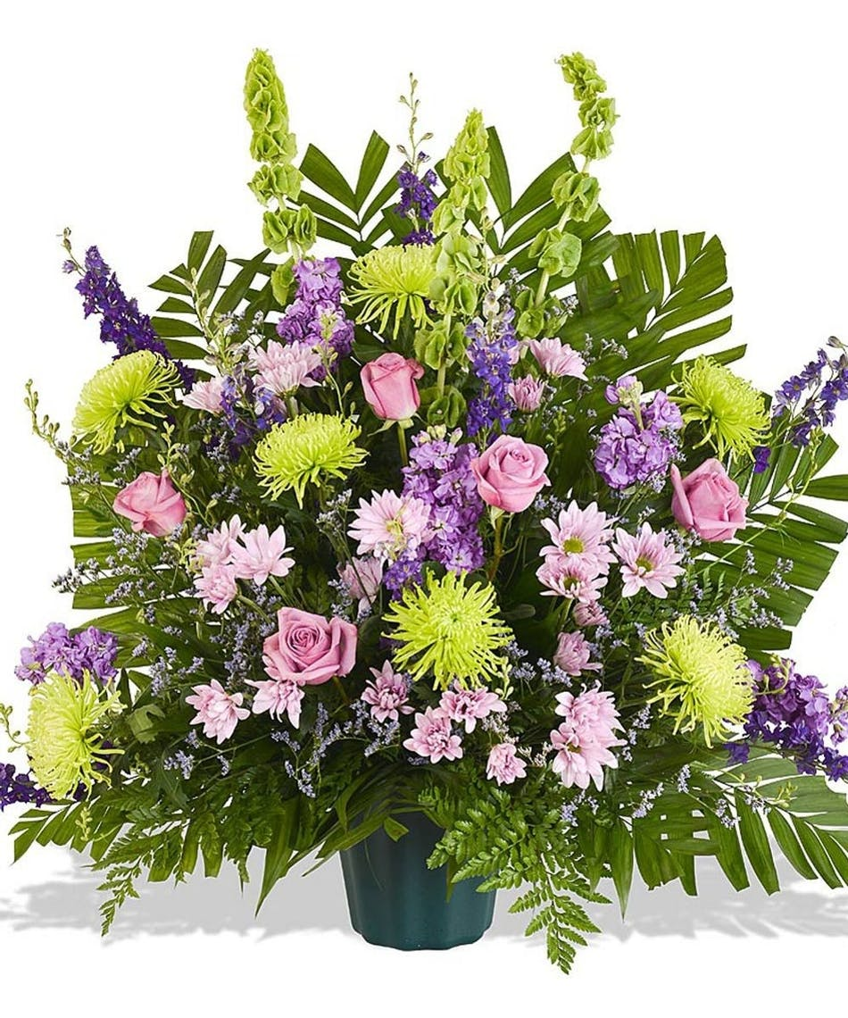 Lavender touches funeral basket delivered in baton rouge la billy funeral basket with lavender flowers delivered baton rouge la mightylinksfo Choice Image