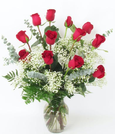 Dozen Medium Stem Roses for Valentine's Day delivered Baton Rouge LA