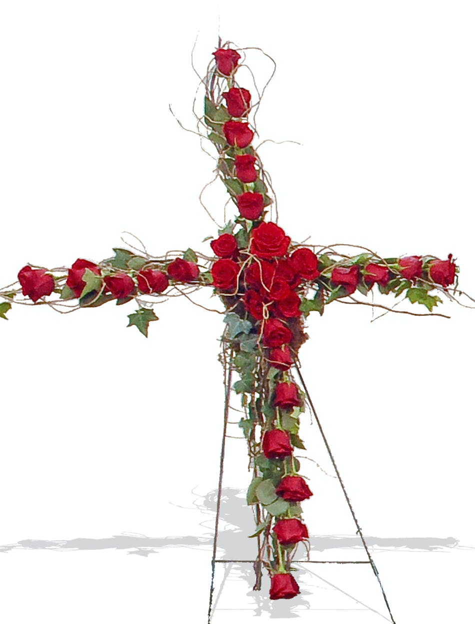 Reverent Roses cross stand delivered in Baton Rouge, LA - Billy ...