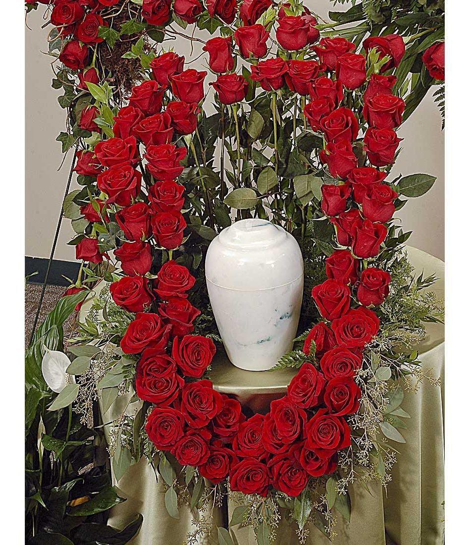 Reverent Roses cremation urn wreath delivered in Baton Rouge, LA ...