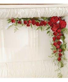 Reverent Roses casket lid piece delivered in Baton Rouge, LA.