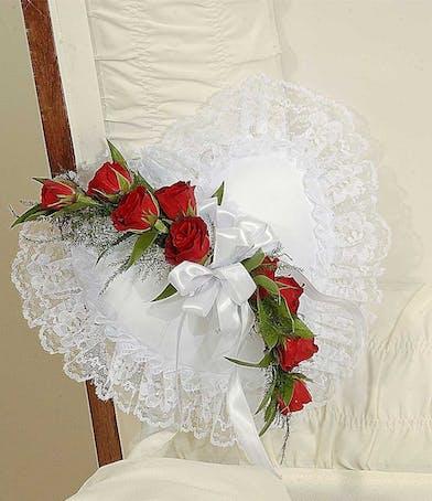 Reverent Roses casket pillow delivered in Baton Rouge, LA.