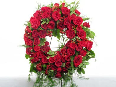 rose sympathy wreath standing spray baton rouge la