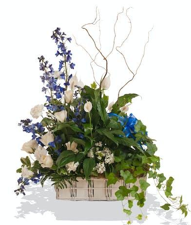 A Touch of Color European Garden Basket delivered in Baton Rouge, LA.