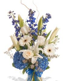 A Touch of Color vase arrangement delivered in Baton Rouge, LA.