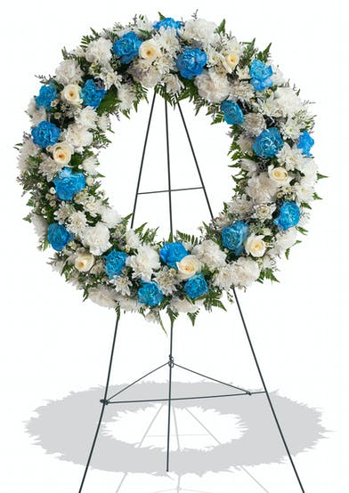 A Touch of Color Wreath Stand A delivered in Baton Rouge, LA.