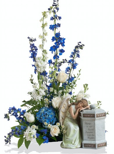 A Touch of Color cremation urn arrangement delivered in Baton Rouge, LA.