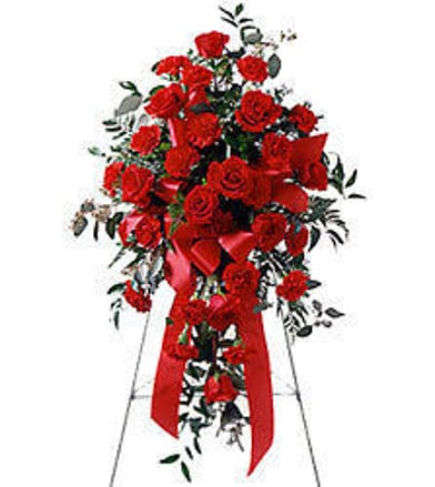Red Roses Carnations Standing Spray Baton Rouge, LA