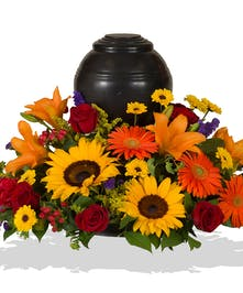 Tuscan urn wreath delivered in Baton Rouge, LA.