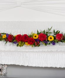 Tuscan casket lid piece delivered in Baton Rouge, LA.