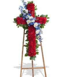 Patriotic cross stand delivered in Baton Rouge, LA.