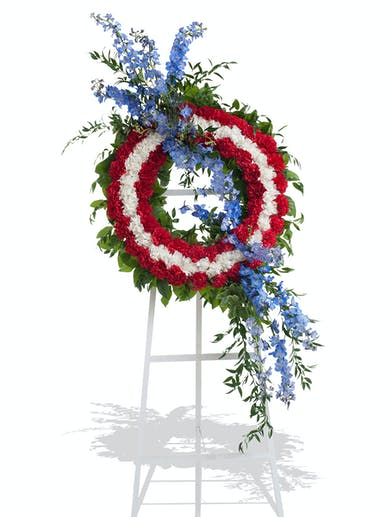 Patriotic wreath stand delivered in Baton Rouge, LA.
