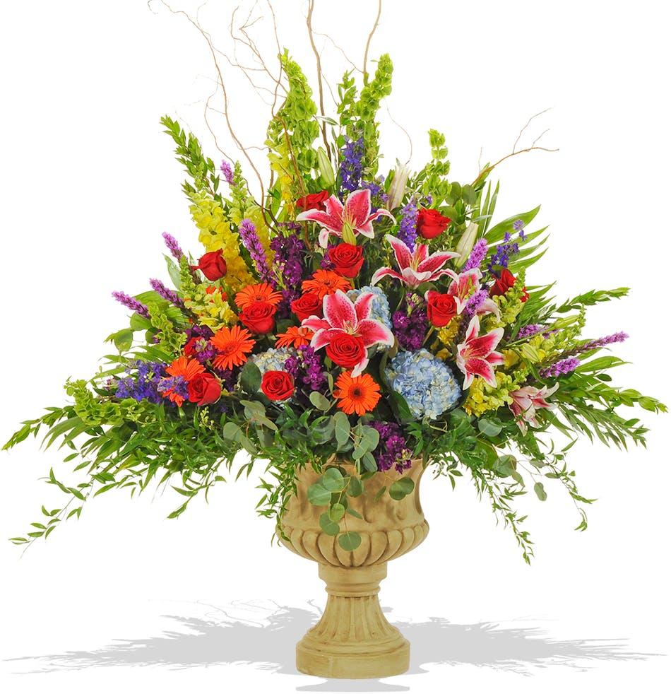 Vivid beauty urn arrangement delivered in baton rouge la billy vivid beauty urn arrangement delivered in baton rouge la mightylinksfo