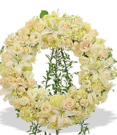 white wreath standing spray delivered baton rouge la