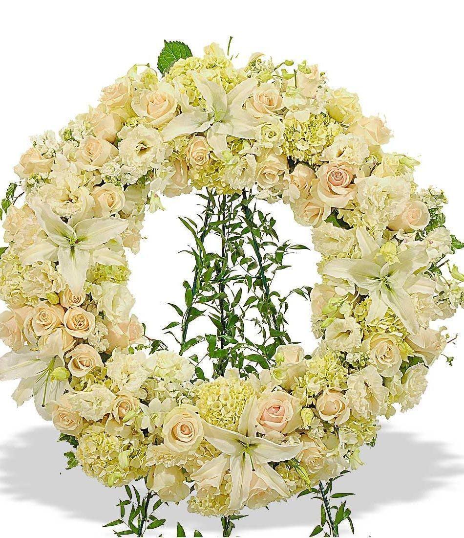 White wreath standing spray delivered in baton rouge la billy white wreath standing spray delivered baton rouge la mightylinksfo