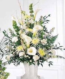 white sympathy arrangement baton rouge la