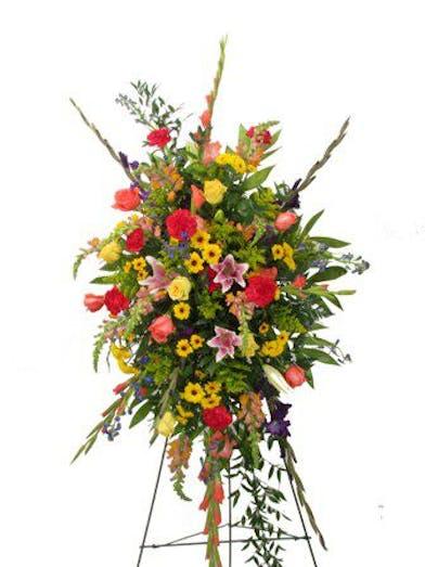 mixed flowers funeral spray Baton Rouge, LA