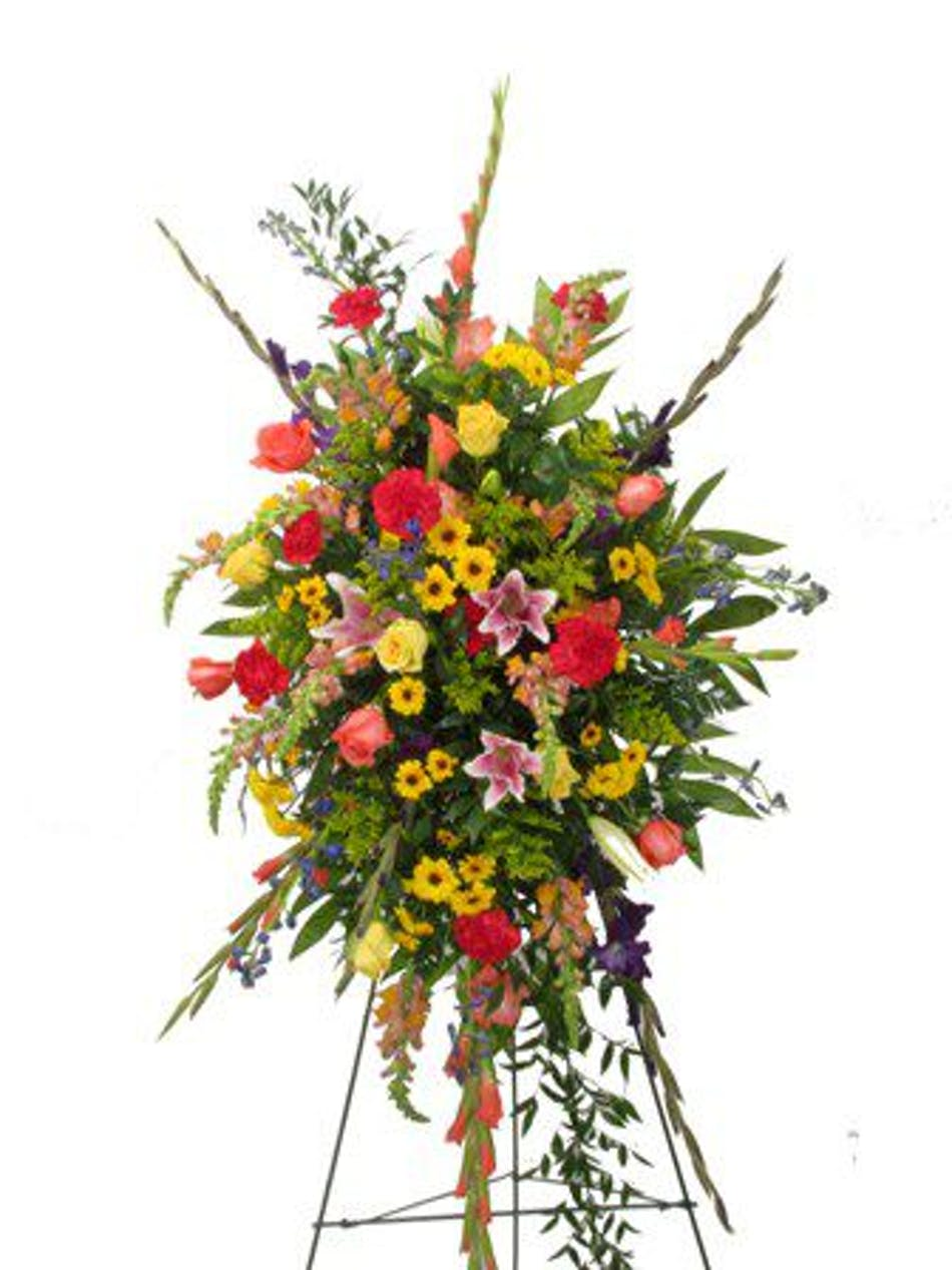 For the service funeral flowers baton rouge la florist billy mixed flowers funeral spray baton rouge la izmirmasajfo Image collections