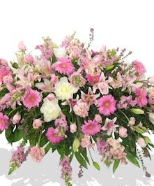 pink white assorted casket cover Baton rouge la