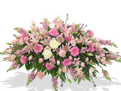 pink white assorted casket cover Baton rouge la