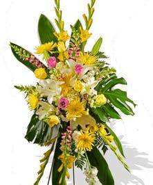 Roses Lilies Snapdragons Funeral Spray Baton Rouge LA