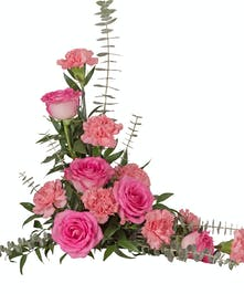 Roses and Carnations Casket Lid Piece in the colors of your choice delivered baton rouge LA