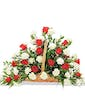 Roses and Carnations - Fireside Basket - Shown