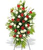 Rose and Carnation Standing Spray - shown