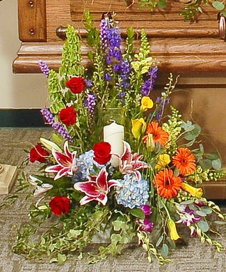 Memorial Candle Flowers